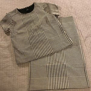 Ann Taylor Two Piece Top and Skirt Set